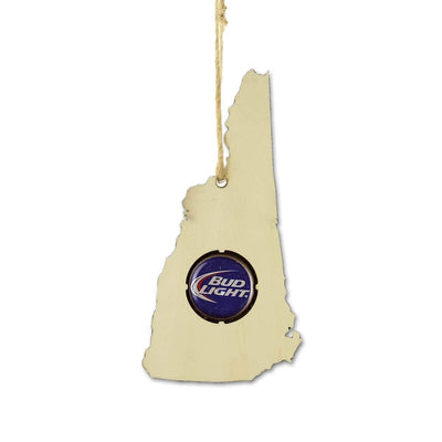 Torched Products Ornaments New Hampshire Beer Cap Map Ornaments (781571522677)