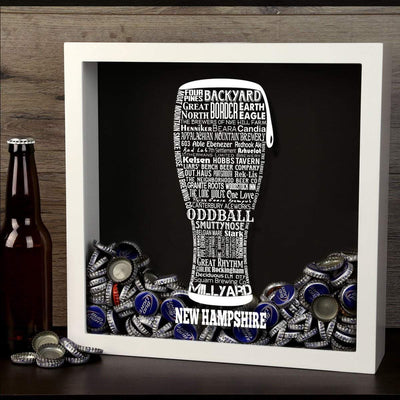 Torched Products Shadow Box New Hampshire Beer Typography Shadow Box