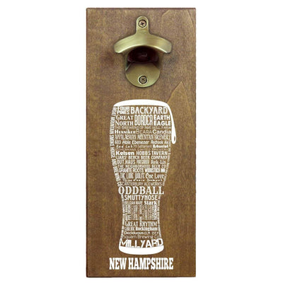 Torched Products Bottle Opener Default Title New Hampshire Craft Beer Typography Cap Catching Magnetic Bottle Opener (789180317813)