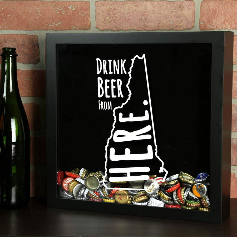 Torched Products Shadow Box Black New Hampshire Drink Beer From Here Beer Cap Shadow Box