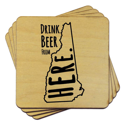 Torched Products Coasters New Hampshire Drink Beer From Here Coasters (781453426805)