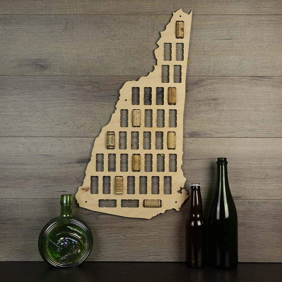 Torched Products Wine Cork Map New Hampshire Wine Cork Map (778977771637)