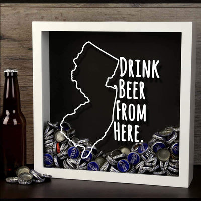 Torched Products Shadow Box New Jersey Drink Beer From Here Beer Cap Shadow Box