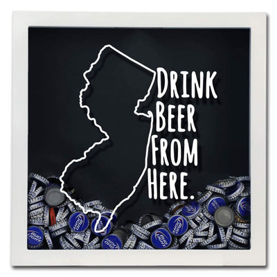 Torched Products Shadow Box New Jersey Drink Beer From Here Beer Cap Shadow Box (781181943925)