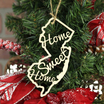 Torched Products Ornaments New Jersey Home Sweet Home Ornaments
