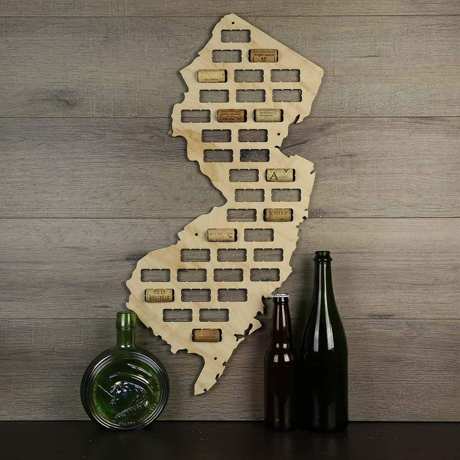 Torched Products Wine Cork Map New Jersey Wine Cork Map