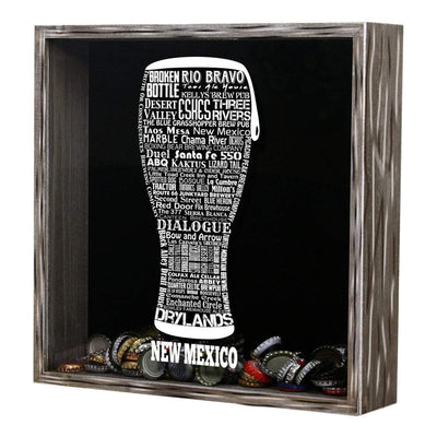 Torched Products Shadow Box New Mexico Beer Typography Shadow Box (779392942197)