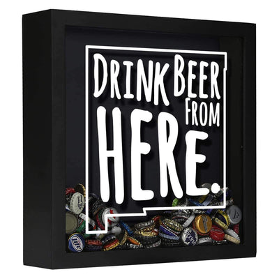 Torched Products Shadow Box Black New Mexico Drink Beer From Here Beer Cap Shadow Box