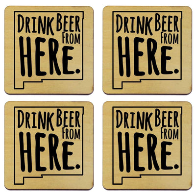Torched Products Coasters New Mexico Drink Beer From Here Coasters (781453951093)