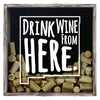 Torched Products Shadow Box Gray New Mexico Drink Wine From Here Wine Cork Shadow Box (795768422517)