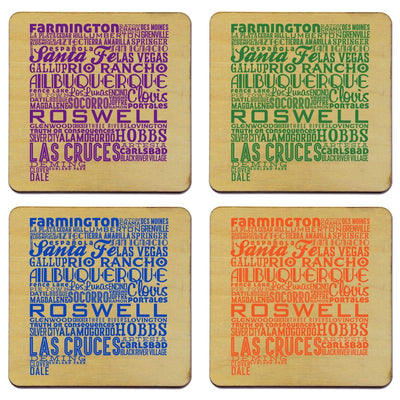 Torched Products Coasters New Mexico State Typography Coaster (787832668277)