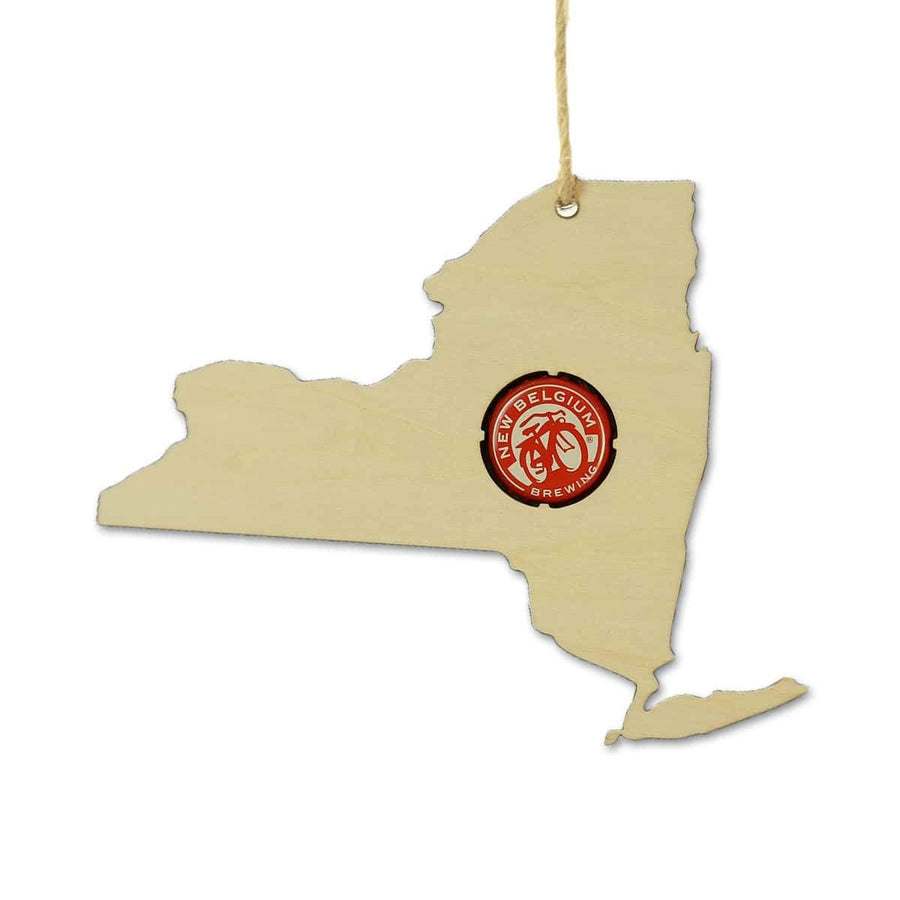 Torched Products Beer Cap Maps New York Beer Cap Map Ornaments