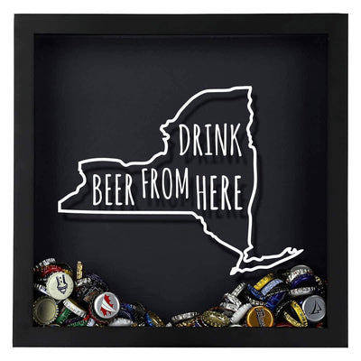 Torched Products Shadow Box New York Drink Beer From Here Beer Cap Shadow Box