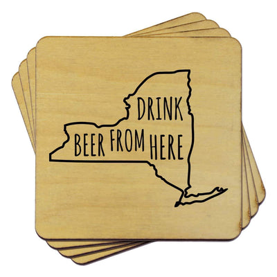 Torched Products Coasters New York Drink Beer From Here Coasters (781454311541)
