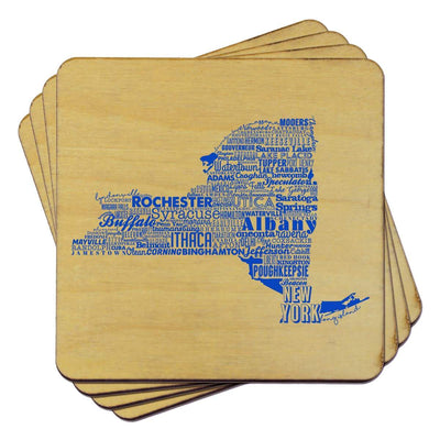 Torched Products Coasters New York State Typography Coaster (787833258101)
