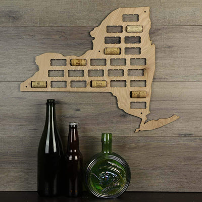 Torched Products Wine Cork Map New York Wine Cork Map