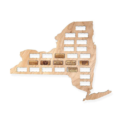 Torched Products Wine Cork Map New York Wine Cork Map (778978918517)