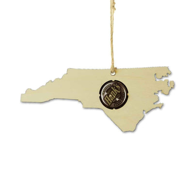 Torched Products Ornaments North Carolina Beer Cap Map Ornaments