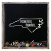 Torched Products Shadow Box Gray North Carolina Drink Beer From Here Beer Cap Shadow Box