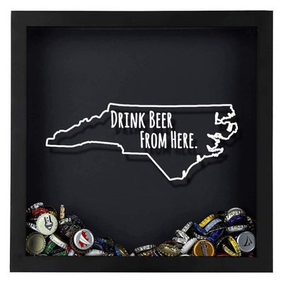 Torched Products Shadow Box North Carolina Drink Beer From Here Beer Cap Shadow Box