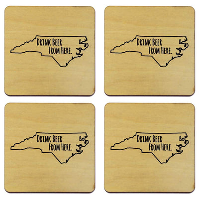 Torched Products Coasters North Carolina Drink Beer From Here Coasters