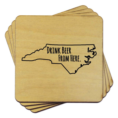 Torched Products Coasters North Carolina Drink Beer From Here Coasters (781454704757)