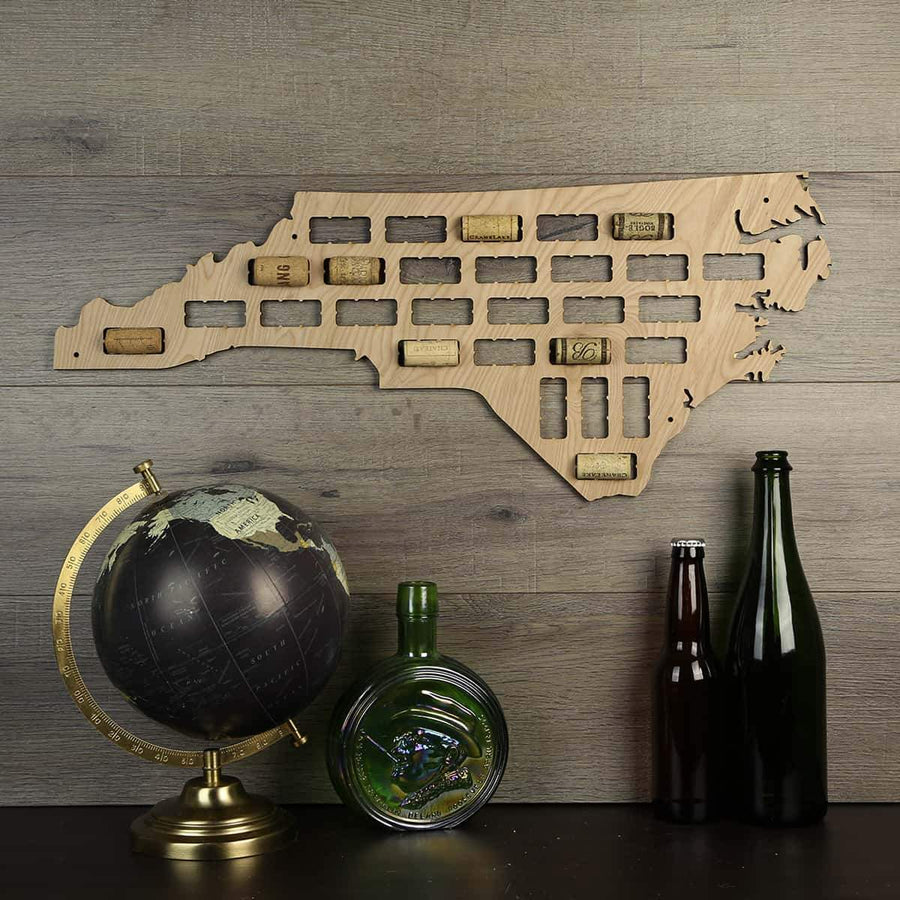Torched Products Wine Cork Map North Carolina Wine Cork Map (778979573877)