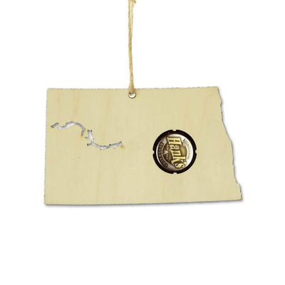 Torched Products Ornaments North Dakota Beer Cap Map Ornaments