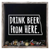 Torched Products Shadow Box Gray North Dakota Drink Beer From Here Beer Cap Shadow Box (781181419637)