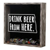 Torched Products Shadow Box North Dakota Drink Beer From Here Beer Cap Shadow Box (781181419637)