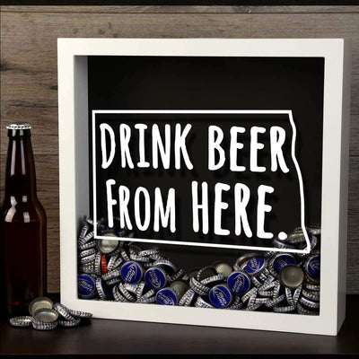 Torched Products Shadow Box North Dakota Drink Beer From Here Beer Cap Shadow Box