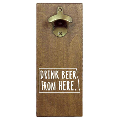 Torched Products Bottle Opener Default Title North Dakota Drink Beer From Here Cap Catching Magnetic Bottle Opener