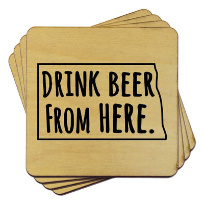 Torched Products Coasters North Dakota Drink Beer From Here Coasters