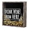 Torched Products Shadow Box North Dakota Drink Wine From Here Wine Cork Shadow Box (795773108341)