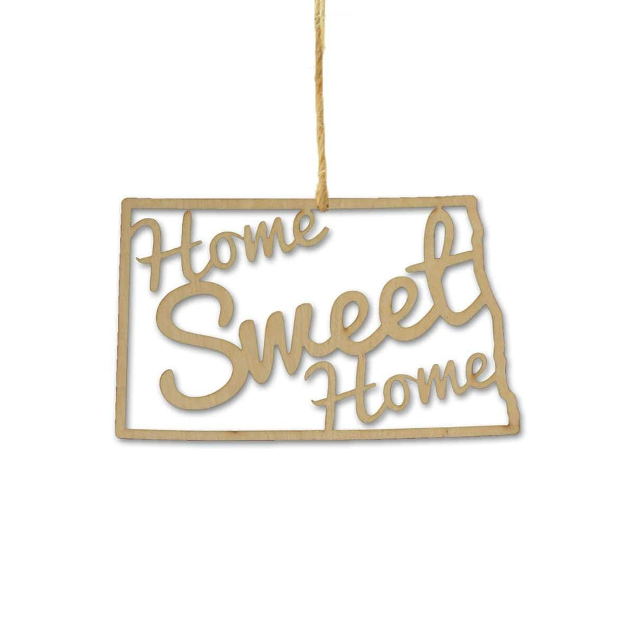 Torched Products Ornaments North Dakota Home Sweet Home Ornaments