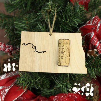 Torched Products Wine Cork Holder North Dakota Wine Cork Holder Ornaments