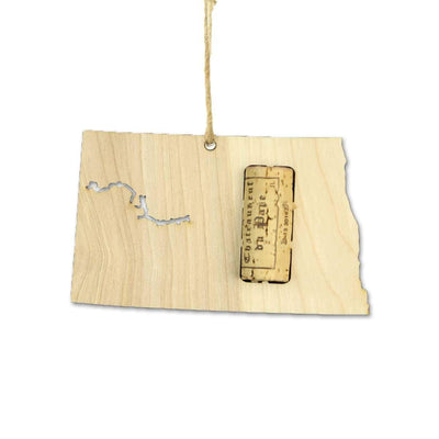 Torched Products Wine Cork Holder North Dakota Wine Cork Holder Ornaments (781203767413)