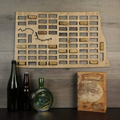 Torched Products Wine Cork Map North Dakota Wine Cork Map (778979836021)