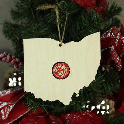 Torched Products Beer Cap Maps Ohio Beer Cap Map Ornaments (781573095541)