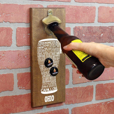 Torched Products Bottle Opener Default Title Ohio Craft Beer Typography Cap Catching Magnetic Bottle Opener (789185429621)