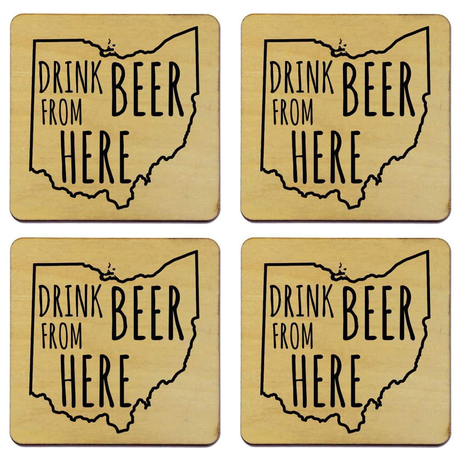 Torched Products Coasters Ohio Drink Beer From Here Coasters (781455261813)