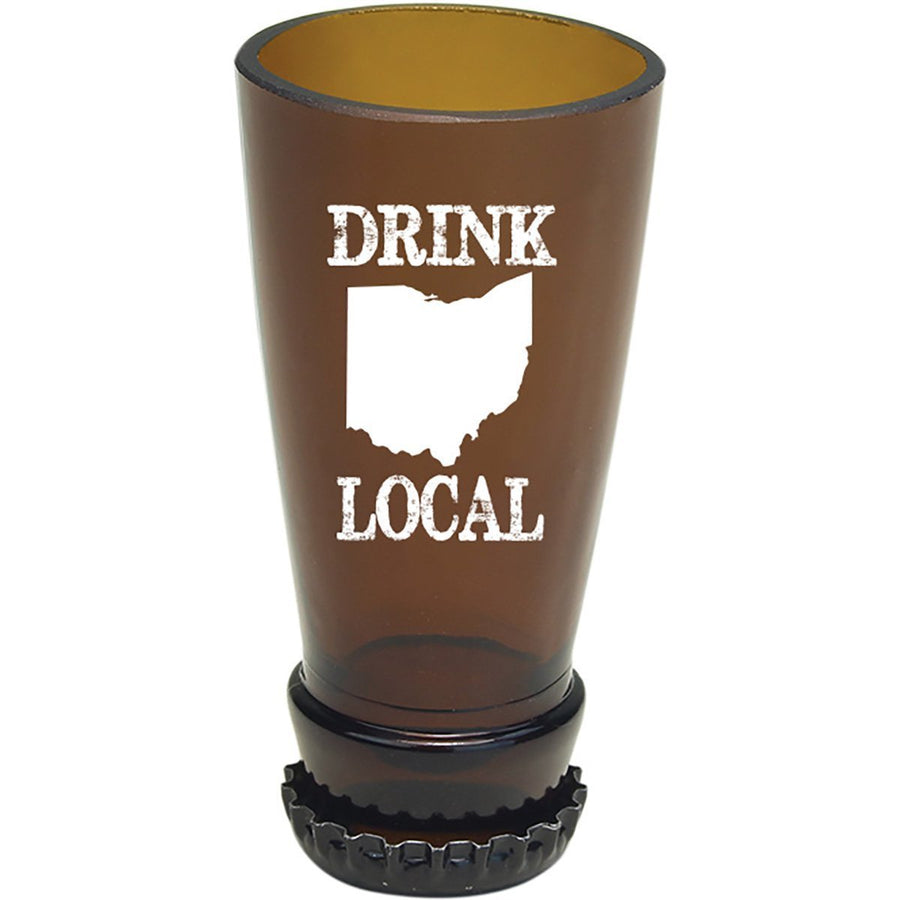 Torched Products Barware Ohio Drink Local Beer Bottle Shot Glass