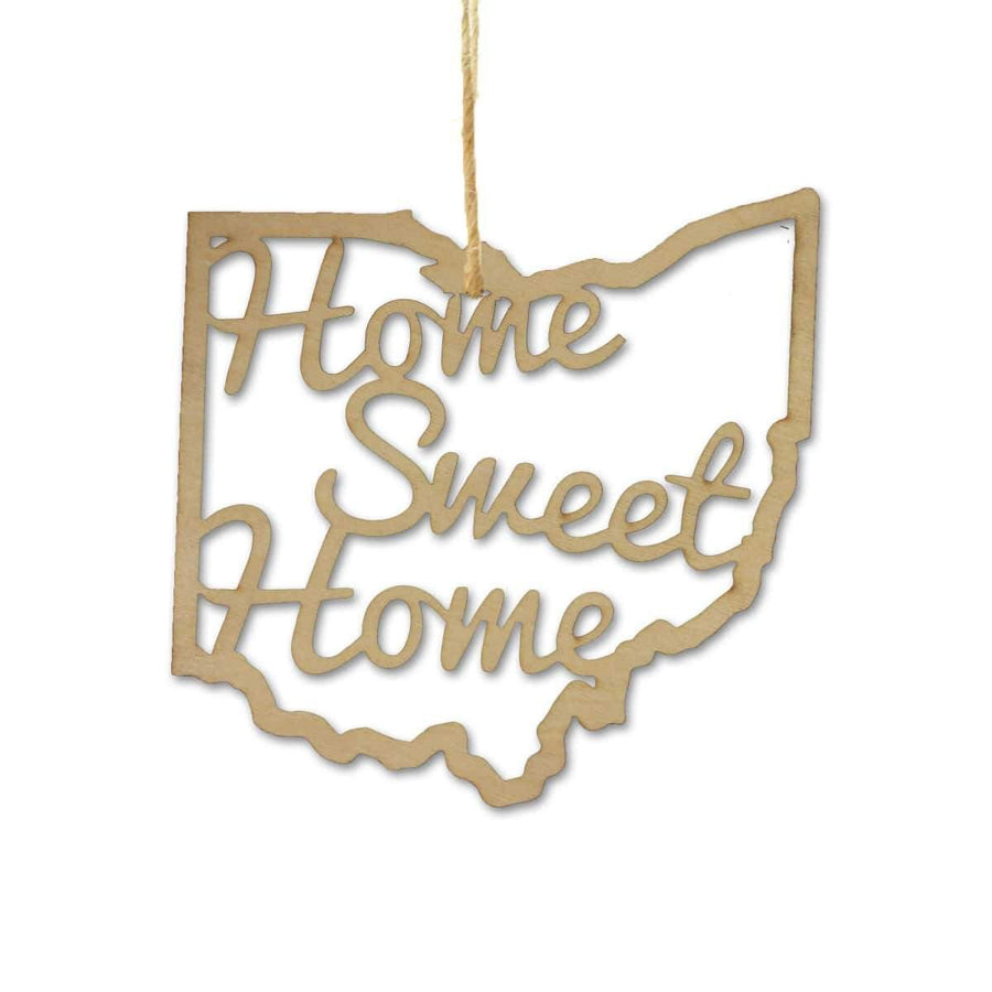 Torched Products Ornaments Ohio Home Sweet Home Ornaments
