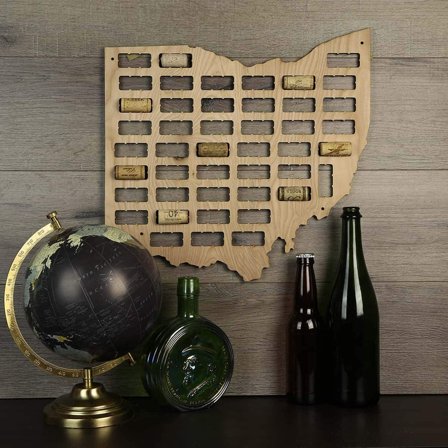 Torched Products Wine Cork Map Ohio Wine Cork Map