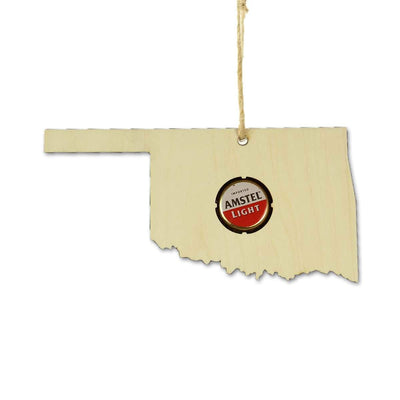 Torched Products Ornaments Oklahoma Beer Cap Map Ornaments (781573521525)