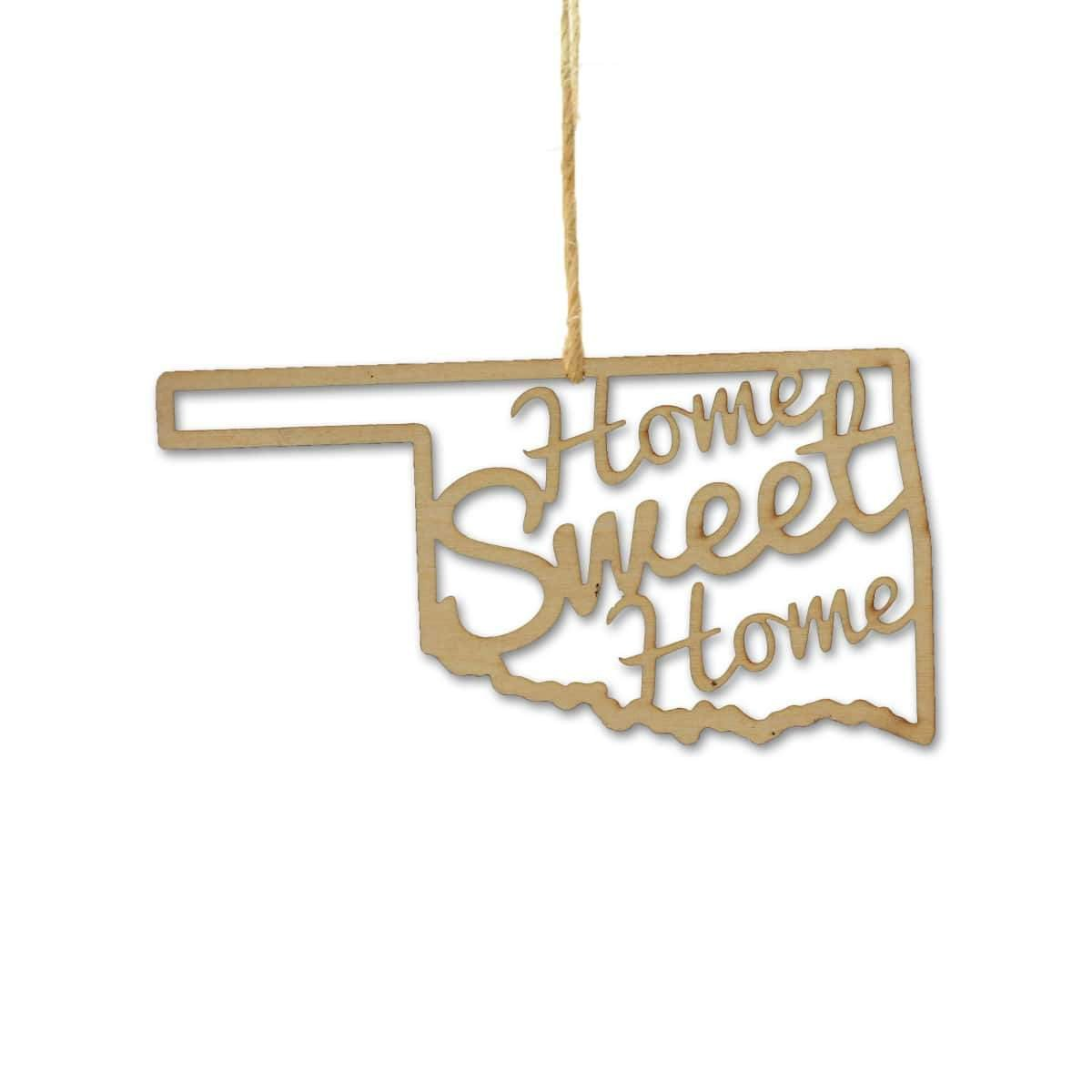 Torched Products Ornaments Oklahoma Home Sweet Home Ornaments (781220937845)