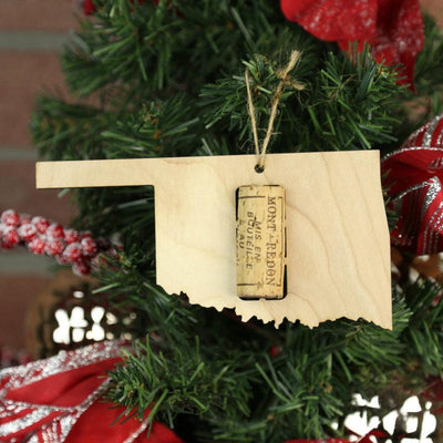 Torched Products Wine Cork Holder Oklahoma Wine Cork Holder Ornaments