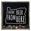 Torched Products Shadow Box Gray Oregon Drink Beer From Here Beer Cap Shadow Box (781183287413)