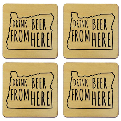 Torched Products Coasters Oregon Drink Beer From Here Coasters (781456179317)