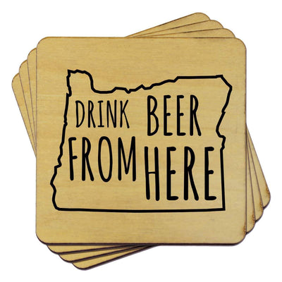 Torched Products Coasters Oregon Drink Beer From Here Coasters